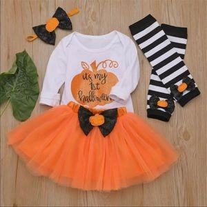Boutique 4pcs Baby Girl Halloween Tutu Set